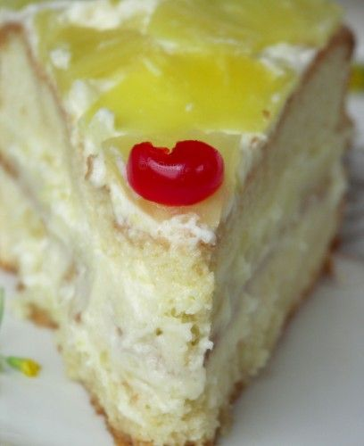 Pineapple Layer Cake | eCurry.com | Cakes and Cupcakes ...