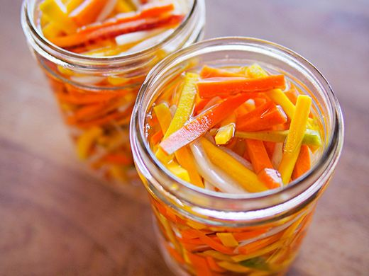 ... Vietnamese pickled daikon and carrots. Pour brine over daikon and