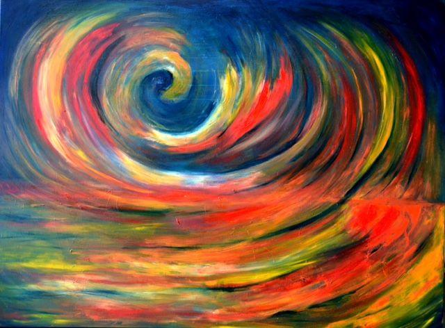 Forycka-Putiatycka Anna ._.ale tańcować mogę,olejna płótnie 110x140 cm, 2014.