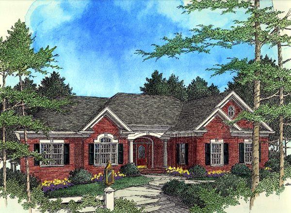 European Ranch House Plan 92449