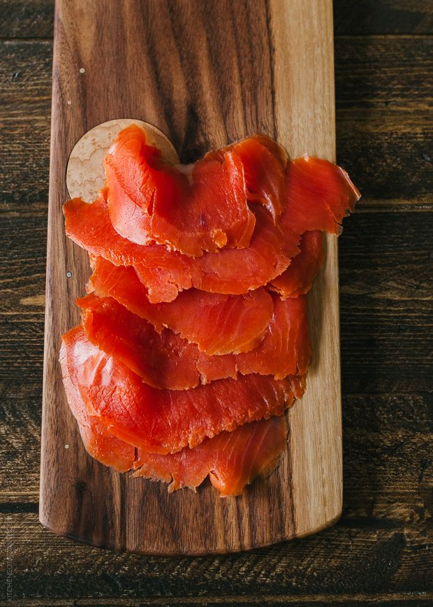 Smoked Salmon Phyllo Bites with Wasabi Goat Cheese | www ...