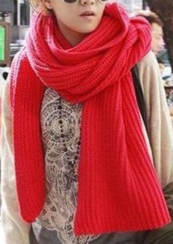 Victoria is Fashion Winter Scarf-Red