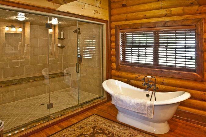 Bathroom Log Cabins Pinterest