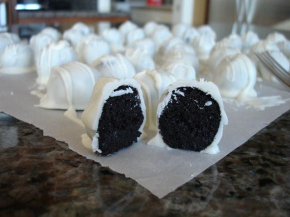 Oreo Balls--My son taught me about these--they are awesome!!!