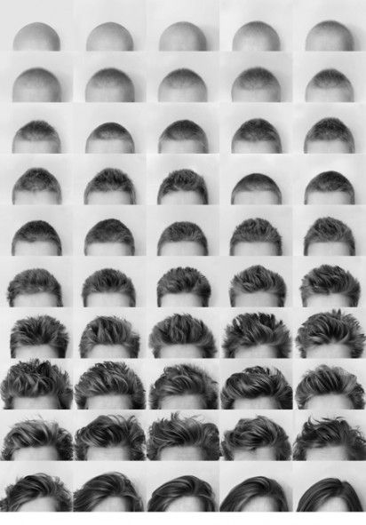 Karin documented her hair growth after chemo. The result is a touching art installation of survival.