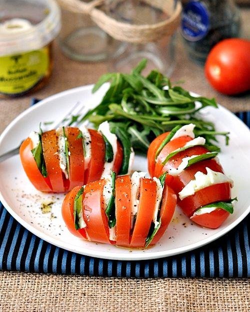 Hasselback caprese salad