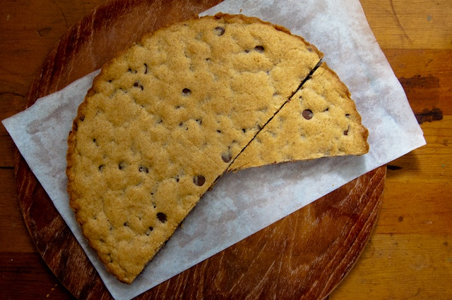 whole wheat chocolate chip cookie cake | treats and sweets | Pinterest