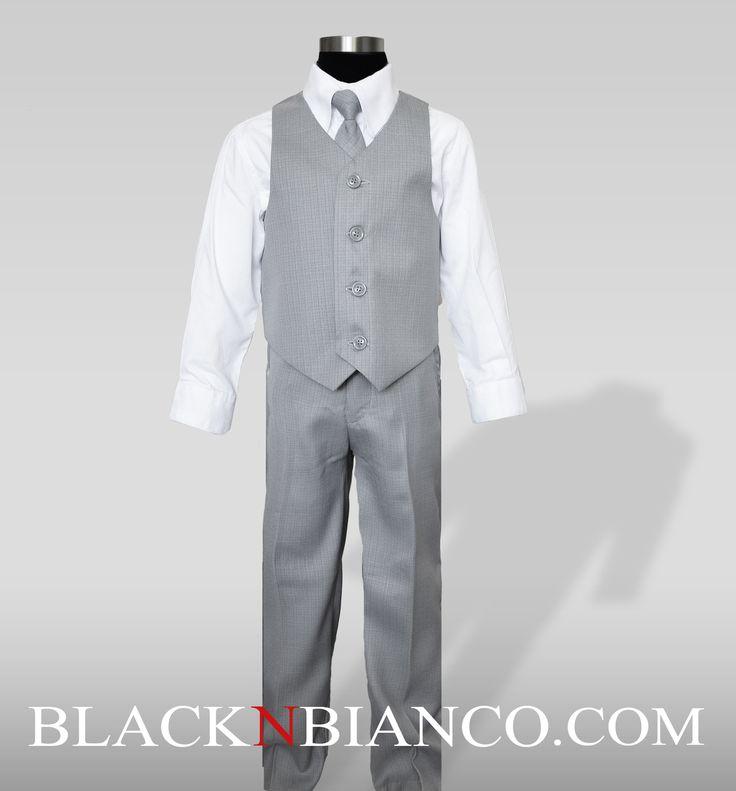 Ring Bearer Light Gray Suits