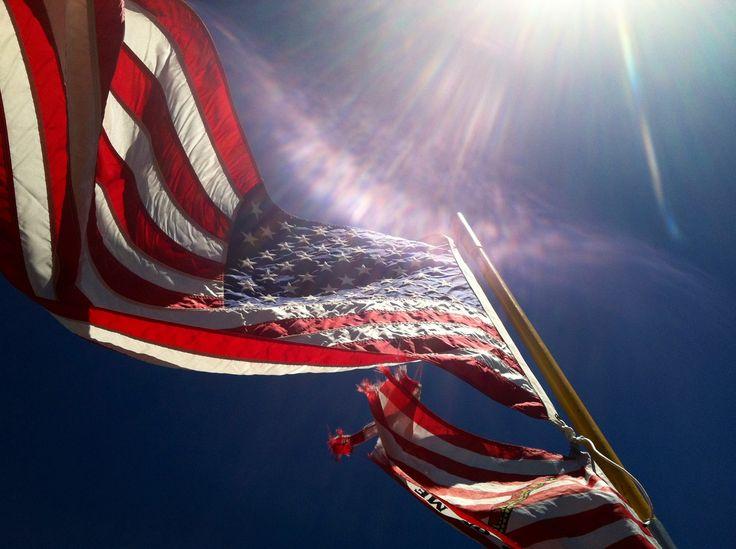 american flag in advertising