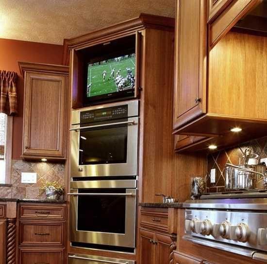Kitchen Design Trends Stylishly Incorporating TV sets into Kitchen ...