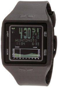 Vestal Men's BRG001 Brig Tide and Train All Black Digital Polyurethane Surf Watch.