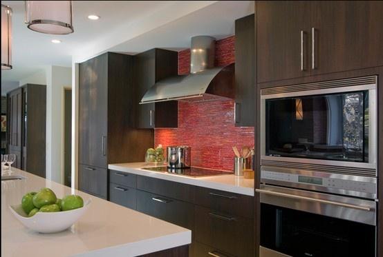 red backsplash kitchen ideas pinterest