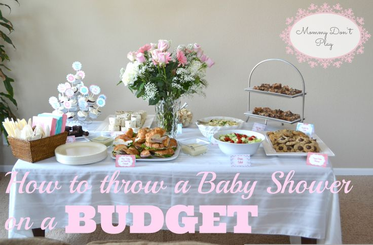 baby shower food ideas baby shower ideas on a tight budget