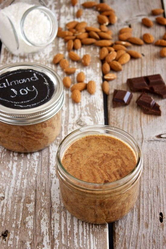 Almond Joy Butter - a healthier, chocolate-y spread than Nutella, with ...