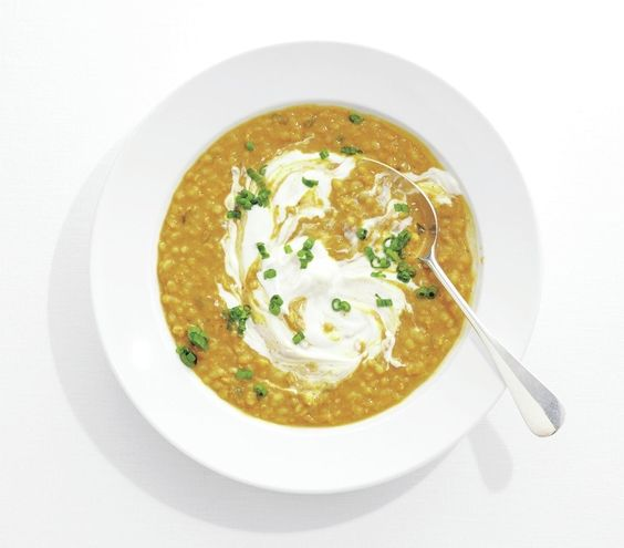 Barley & Lentil Soup - Chopped ginger, curry powder, and coconut milk ...