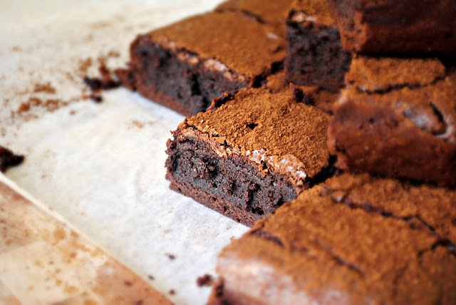 Spicy Chocolate-Cayenne Truffle Brownies | Finer Foods | Pinterest