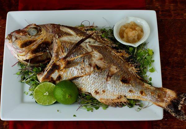 ... sea bream and sardines | Tai no Shioyaki—Salt-Grilled Sea Bream
