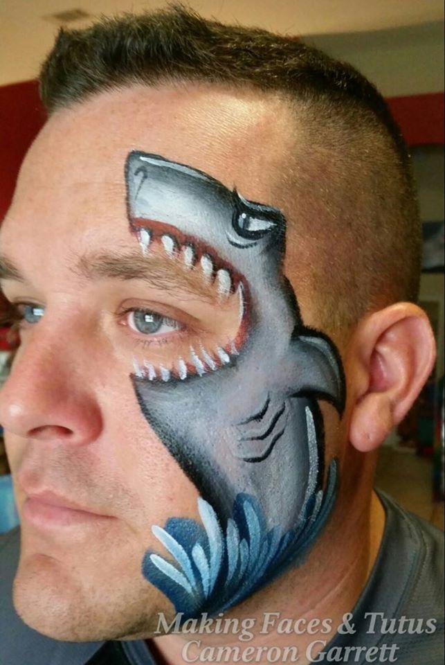 Shark face paint | Extreme Makeup/Facepainting/FX Makeup ...