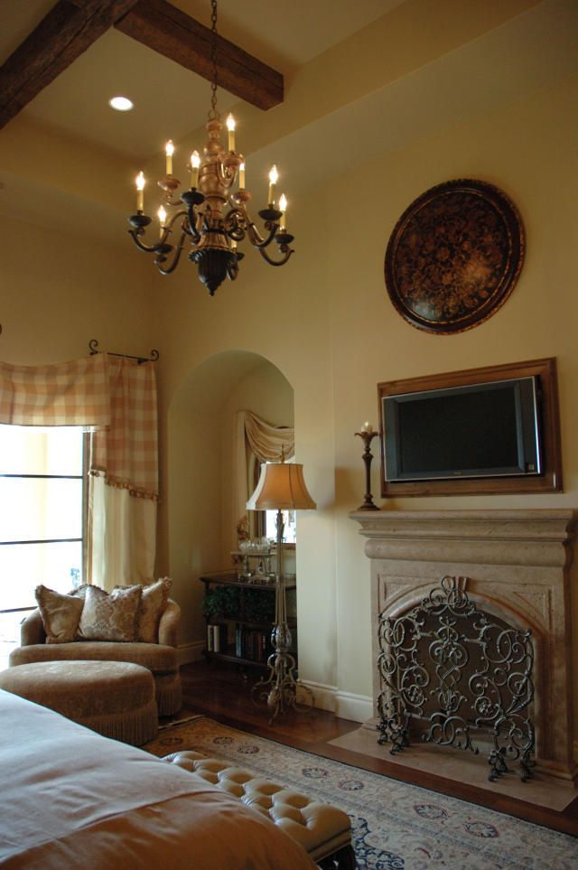 Fireplace and wall niche Master Bedroom Pinterest