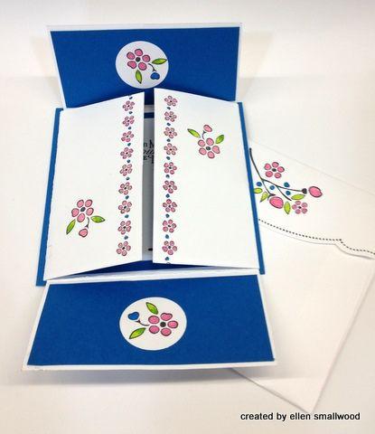Bordering on Romance 4 corner fold up card
