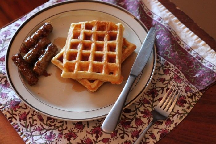 Sour Cream Waffles | TheCornerKitchenBlog.com