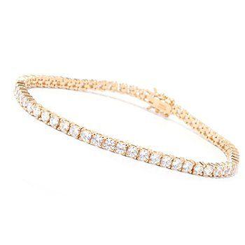 Brilliante Round Cut Prong Set Simulated Diamond Tennis Bracelet