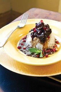 Pomegranate Stew With Chicken (Khoresh Fesenjan) Recipe — Dishmaps