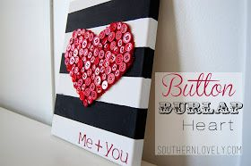 Southern Lovely: Button burlap {heart}