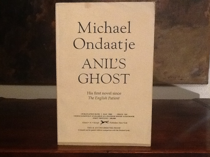anil s ghost summary A poetic encounter with otherness: the ethics of affect in michael ondaatje's  anil's ghost hilde  in lieu of an abstract, here is a brief excerpt of the content.