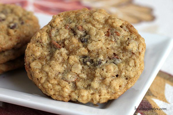 Oatmeal cinnamon chip cookies -- these are the perfect fall treat!