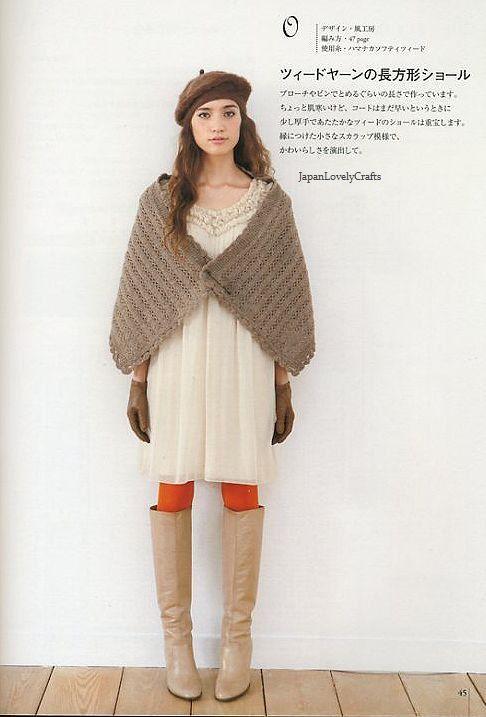 Easy Cape Knitting Pattern : Easy, Kawaii Shawl, Cape, Margaret Knit - Japanese Knitting & Crochet?