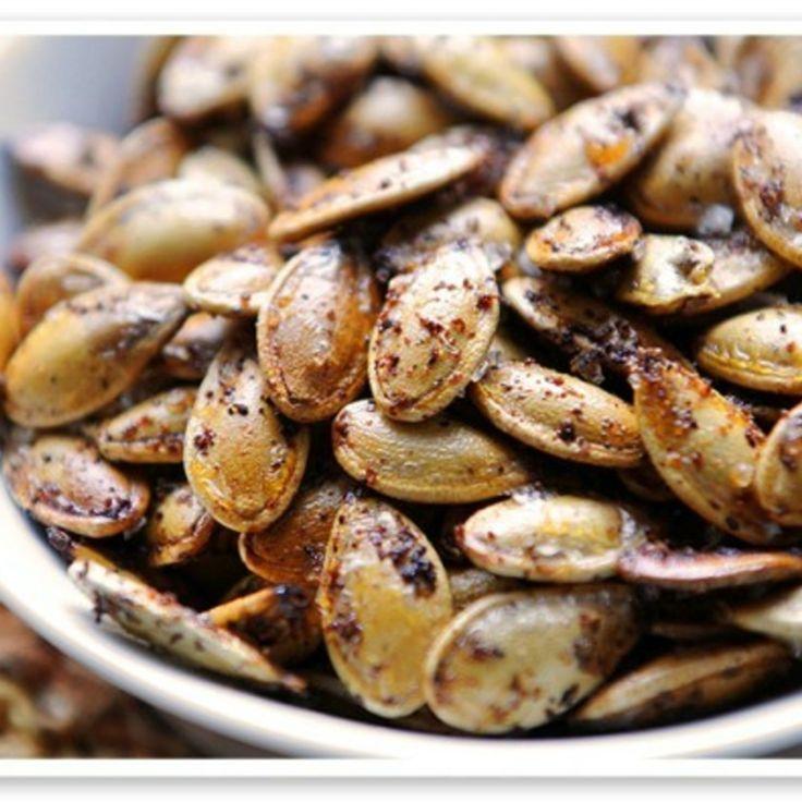 Kickin' Toasted Pumpkin Seeds | Recipe