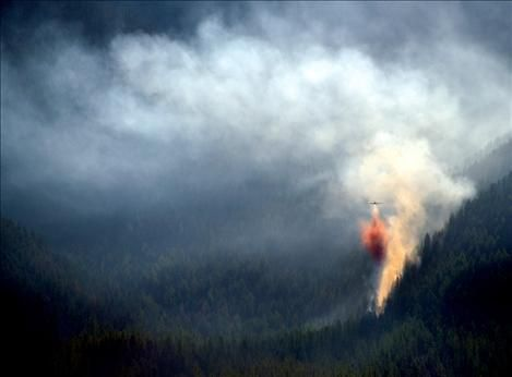 Fires burn in mission mountains