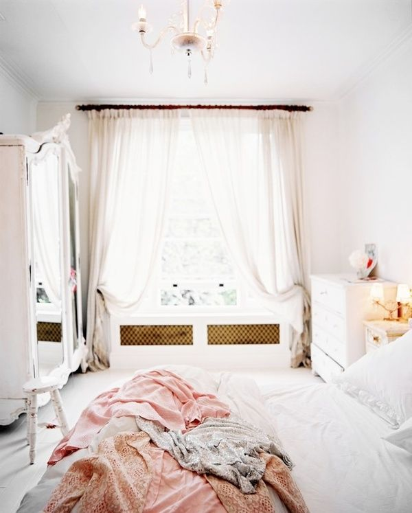 soft blush pink pretty and simple good for a guest bedroom or little