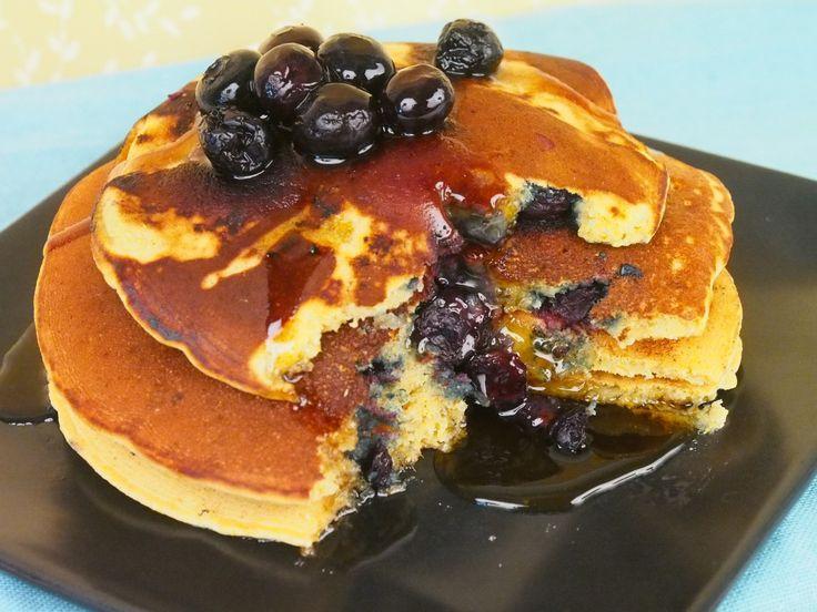 Vegan Blueberry Cornmeal Pancakes | New Recipes to Try - Breakfast ...