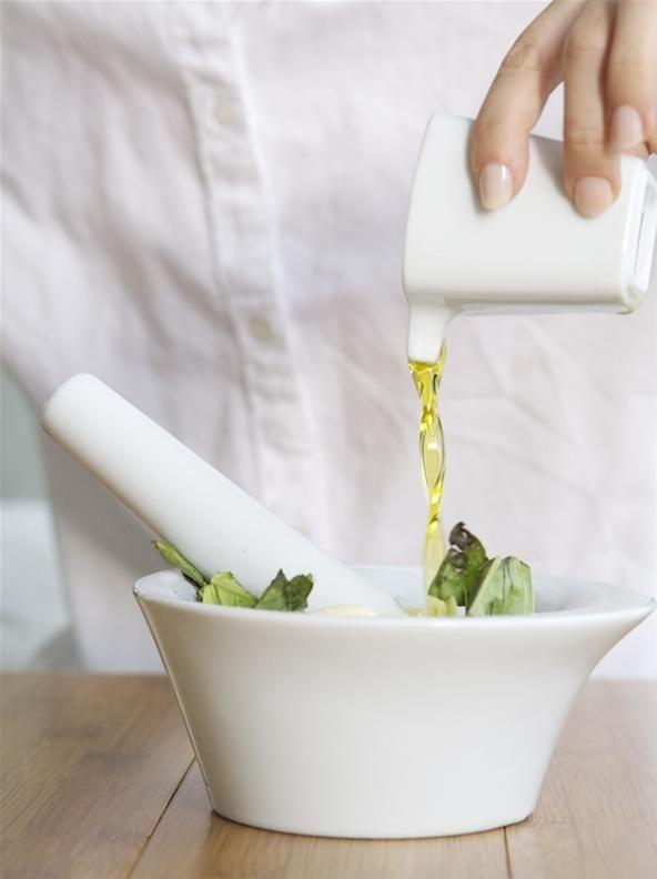 How to Make Pesto Stuffed Mushrooms with Quail Eggs