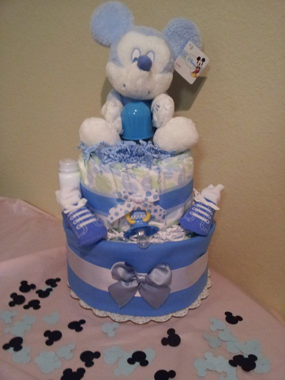 mickey mouse diaper cake great for baby shower by diapercake4less 46