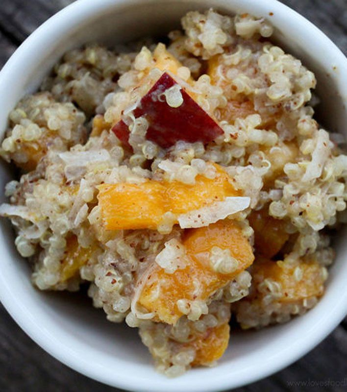 Nutty Tropical Breakfast Quinoa | breakfast | Pinterest