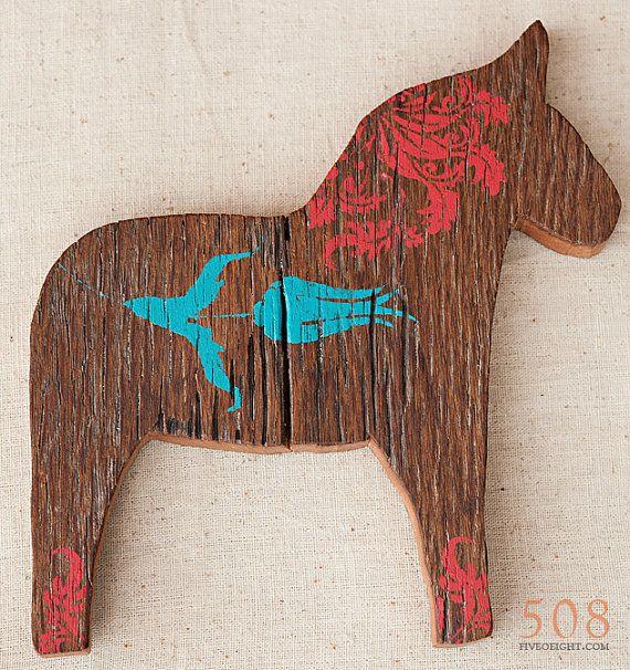 Large wooden dala horse
