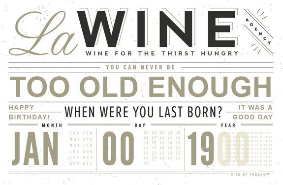 web design typography - wine!