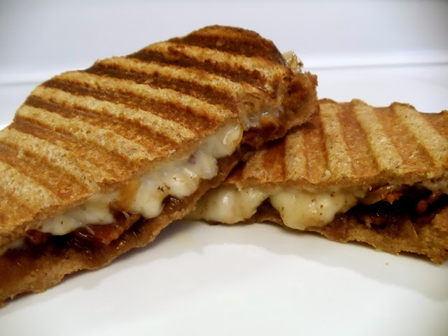 Cheese Onion Bacon Jam Panini's. You want this in your belly NOW ...