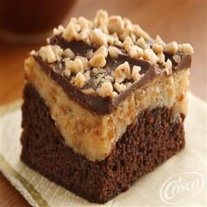 Peanut Butter-Toffee Cheesecake Brownies from Crisco®