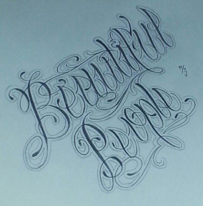 Beautiful Script Fonts For Tattoospitbull Tattoos Designs Tattoo Letteringfebruary Flower