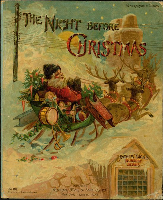 vintage Night Before Christmas cover | Holiday Decor | Pinterest