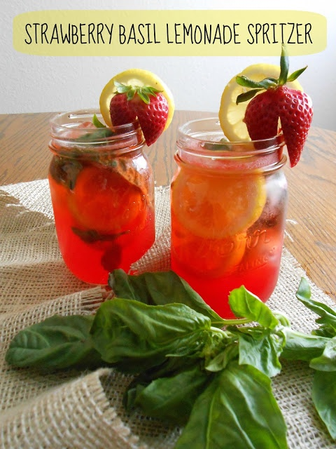 Strawberry Basil Lemonade Spritzer | Drinks | Pinterest