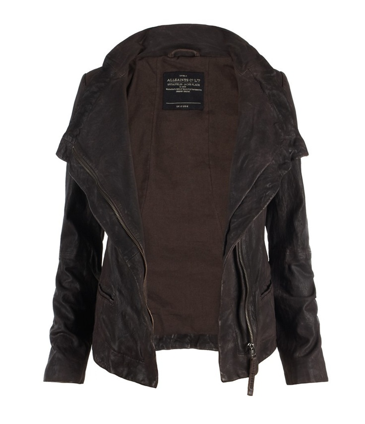 Texas Leather Jacket, Women, Leather, AllSaints Spitalfields