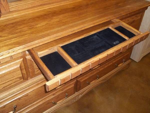 Hidden jewelry drawer in dresser smart beautiful for Hidden jewelry drawer