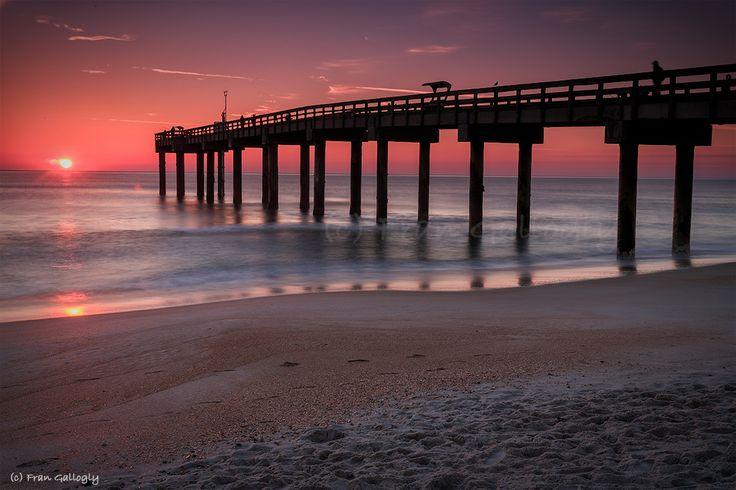 Sunrise pier in st augustine i love florida pinterest for St augustine fishing pier