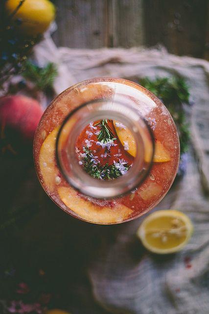 Peach & Rosemary Blossom Lemonade by Eva Kosmas Flores   Adventures in ...