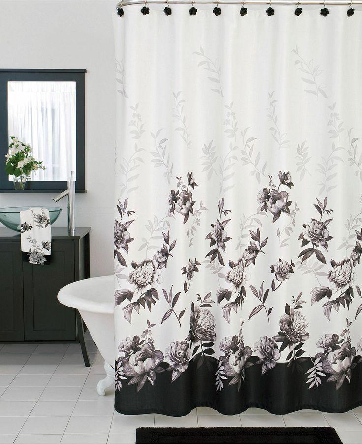 lenox bath accessories moonlit garden shower curtain shower curtains ...